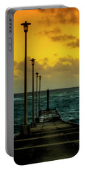 Jetty At Sunrise Portable Battery Charger