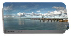 Portable Battery Charger featuring the photograph Jetty To Shore by Stephen Mitchell