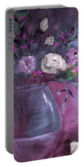 Jewel Tone Rose Arrangement Painting Portable Battery Charger