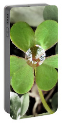 Jeweled Clover Portable Battery Charger