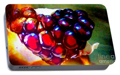 Portable Battery Charger featuring the painting Jeweled Heart In Light And Dark by Genevieve Esson