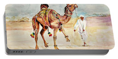 Jewellery And Trappings On Camel. Portable Battery Charger by Khalid Saeed