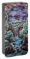 Portable Battery Charger featuring the painting Jewels Of The Valley by Cheryl Pettigrew