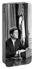 Jfk Addresses The Nation Painting Portable Battery Charger