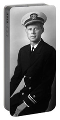 Jfk Wearing His Navy Uniform Painting Portable Battery Charger