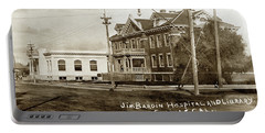 Jim Bardin Hospital The Hospital Was Located On The E Side Of Main Street  Circa 1910 Portable Battery Charger