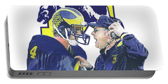 Jim Harbaugh And Bo Schembechler Portable Battery Charger