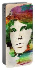 Jim Morrison Colorful Portrait Portable Battery Charger