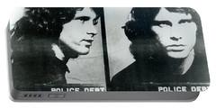 Jim Morrison Mug Shot Horizontal Portable Battery Charger