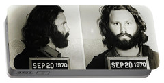 Jim Morrison Mugshot Portable Battery Charger
