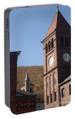 Portable Battery Charger featuring the photograph Jim Thorpe Rooftops by Christina Verdgeline