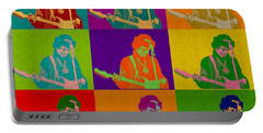 Jimi Hendrix In The Style Of Andy Warhol Portable Battery Charger