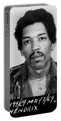 Jimi Hendrix Mug Shot Vertical Portable Battery Charger