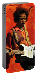 Portable Battery Charger featuring the photograph Jimi Hendrix Purple Haze Orange by David Dehner