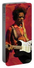 Portable Battery Charger featuring the photograph Jimi Hendrix Purple Haze Red by David Dehner