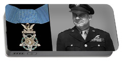 Jimmy Doolittle And The Medal Of Honor Portable Battery Charger
