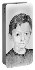 Portable Battery Charger featuring the drawing Jimmy by Mayhem Mediums