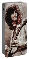 Jimmy Page By Mary Bassett Portable Battery Charger