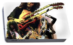 Jimmy Page  Echoes Of Pompeii Portable Battery Charger by Iconic Images Art Gallery David Pucciarelli
