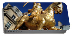 Portable Battery Charger featuring the photograph Joan Of Arc - Paris by Therese Alcorn