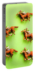 Jockeys And Horses Portable Battery Charger