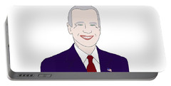 Joe Biden Portable Battery Charger by Priscilla Wolfe