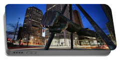 Joe Louis Fist Statue Jefferson And Woodward Ave. Detroit Michigan Portable Battery Charger by Gordon Dean II