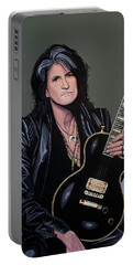 Joe Perry Of Aerosmith Painting Portable Battery Charger by Paul Meijering