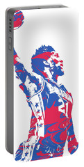 Joel Embiid Philadelphia Sixers Pixel Art 13 Portable Battery Charger