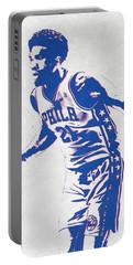 Joel Embiid Philadelphia Sixers Pixel Art Portable Battery Charger