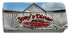Portable Battery Charger featuring the photograph Joey's Diner Sign by Betty Denise