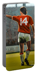 Johan Cruyff Oranje Nr 14 Portable Battery Charger by Paul Meijering
