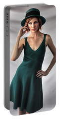 Johanne In Green Portable Battery Charger