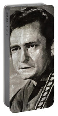 Johhny Cash Portrait Portable Battery Charger