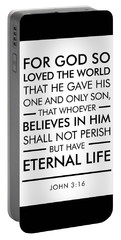 John 3-16 - Spiritual Wall Art - Bible Verses Art Portable Battery Charger