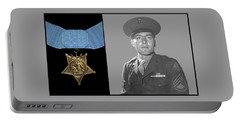 John Basilone And The Medal Of Honor Portable Battery Charger
