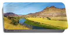 John Day River Panoramic View Portable Battery Charger