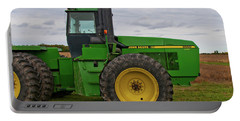 Portable Battery Charger featuring the photograph John Deere Green 3159 by Guy Whiteley