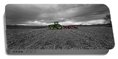 John Deere Tractor On The Farm Portable Battery Charger