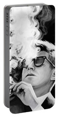 Portable Battery Charger featuring the painting John F. Kennedy Artwork 1 by Sheraz A
