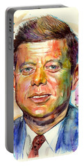 John F. Kennedy Painting Portable Battery Charger
