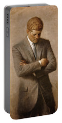 John F Kennedy Portable Battery Charger by War Is Hell Store