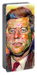 John F. Kennedy Watercolor Portable Battery Charger