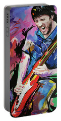 John Frusciante Portable Battery Charger by Richard Day