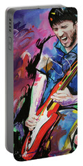 Portable Battery Charger featuring the painting John Frusciante by Richard Day