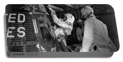 John Glenn Entering Friendship 7 Spacecraft Portable Battery Charger by War Is Hell Store