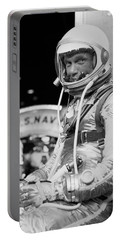 John Glenn Wearing A Space Suit Portable Battery Charger by War Is Hell Store