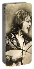 Portable Battery Charger featuring the digital art John Lennon by Anthony Murphy