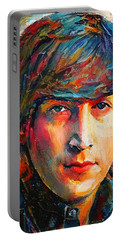 John Lennon Young Portrait Portable Battery Charger