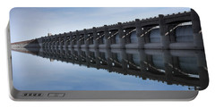 John Martin Dam And Reservoir Portable Battery Charger by Ernie Echols